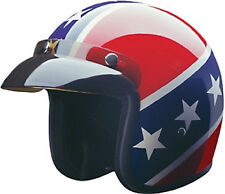 Texas Rebel Open Face DOT Motorcycle Helmet with storage bag 3 sizes fnt