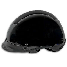 Classic Glossy Black DOT Motorcycle Helmet with Storage Bag XS Sm Md XL fnt