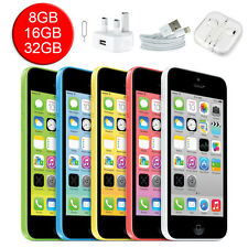 Apple iPhone 5C 8GB 16GB 32GB Smartphone Unlocked Grade A+ with Box 5 Colours