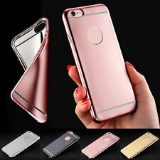 For iPhone 7  6 Rose Case Luxury Ultra Thin Rubber Plating TPU Soft Phone Cases