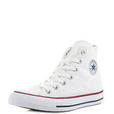 Mens Womens Converse All Star Hi Top Optical White Trainers Size