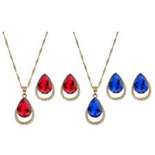 Fashion Women Wedding Jewelry Sets Gold Plated Necklace Earrings Set Xmas Gift