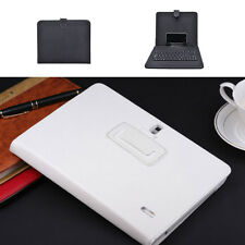 Universal 7 8 9 9.7 10 Inch PU Leather Stand Tablet Keyboard Case Cover Micro US