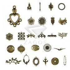 27 Style 3-100pcs Lots Antitue Brass Metal Links Connectors Jewelry Findings