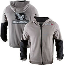 Hayabusa Wingback Classic Fit Zip-Up Hoodie - Gray/Black-boxing mma sweatshirt