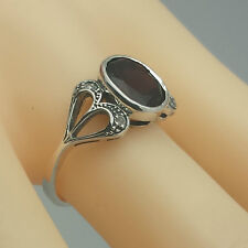 Garnet Diamond Diamond Ring 925 Silver ANTIQUE STYLE Sterling silver