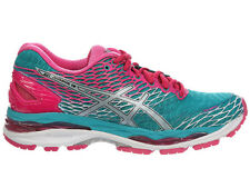 NEW WOMENS ASICS GEL-NIMBUS 18 RUNNING SHOES TRAINERS LAPIS / SILVER / SPORT PIN