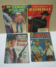 Zorro No. 920 Buffalo Bill Jr. Wyatt Earp Lawman Vtg. Dell Comic Lot  T*