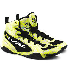 Rival Boxing Lo-Top Guerrero Boots - Yellow Snake Skin/Black