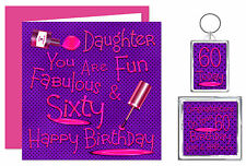 Daughter Happy Birthday Gift Set - Card, Keyring & Magnet - Ages 11 - 60 Years
