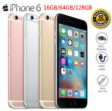 APPLE IPHONE 6 ORIGINAL FACTORY UNLOCKED 16GB 64GB 128GB GRAY GOLD SILVER 4 NET