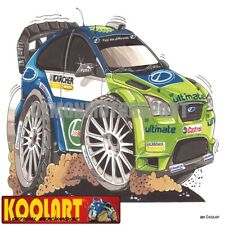 Koolart Cartoon 2007 Ford Focus RS Rally WRC - Mens Gifts (2091)