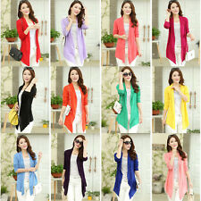 Ladies Casual Long Sleeve Cardigan Thin Sweater Coat Outwear Tops Autumn Spring