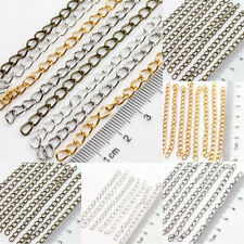 New Lots 25/100Pcs Metal 5x3mm Rings Cable Open Link Iron Metal Chain Making 7cm
