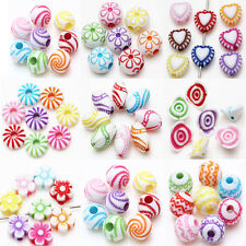 Mixed Acrylic Loose Spacer Bead Charms Bracelet Jewelry Making Optional 9 Style