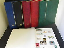 LIGHTHOUSE 32 PAGE STAMP ALBUM WITH WHITE PAGES 32pg STOCKBOOK, CHOICE 5 COLOURS