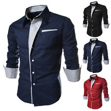 Fashion Mens Luxury Stylish Casual Long Sleeve Dress Shirts Slim Fit Shirts