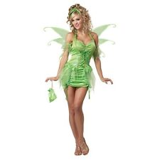 Tinkerbell Costume Adult Sexy Fairy Peter Pan Halloween Fancy Dress