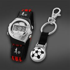 NEW CARVEL WRIST WATCH AND FOOTBALL KEYRING SET