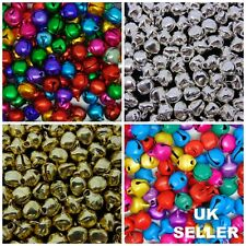 Christmas Ringing Jingle Bell Beads Charms Xmas Jewellery Craft Silver Gold ML