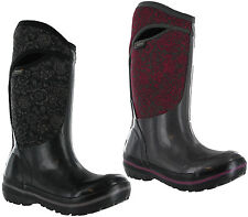Bogs Neoprene Wellingtons Quilted Floral Waterproof Neo-Tech -40 Womens Boots