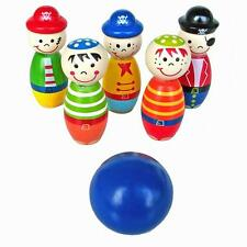 Children Early Educational Toys Wooden Bowling Ball Skittle Funny for Kids Game
