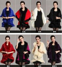 Women's Shawl Cloak Cardigan Sweater Cape Coat Poncho Winter Warm Bating Tops