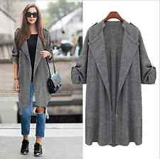 Fashion Women Long Sleeve Cardigan Loose Jacket Outwear Jacket Coat Sweater Top