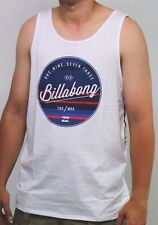 Mens Billabong Rounder White Surf Tank / Singlet, Size M - 2XL. NWT, RRP $45.99.