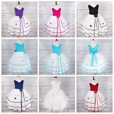 Flower Girl Toddler Princess Dress Party Prom Wedding Formal Tulle Layers Dress