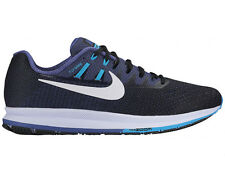 NEW MENS NIKE AIR ZOOM STRUCTURE 20 RUNNING SHOES TRAINERS DARK GREY / BLUE GREY