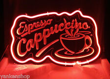 """SD362 Espresso Cappuccino Cup Cafe Coffee Shop Display Neon Light Sign 12""""X7.5"""""""