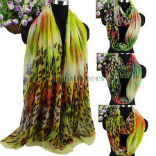 Fashion Bright Colorful Leopard Spot Print Long Scarf/Infinity Cowl Circle Scarf