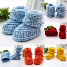 Newborn Baby Boys Girls Handmade Shoes Crochet Knit Booties Casual Crib Shoes