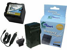 Battery + Charger + Car Plug + EU Adapter for Panasonic HC X800, VW VBN130