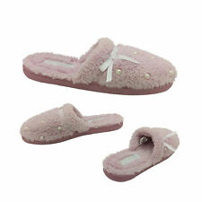 Ladies Slippers Grosby Invisible Support Slide Pearl Pink Mule Slipper Size 5-10