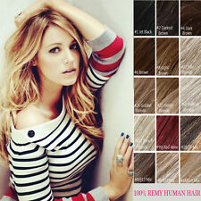 7pcs/set Clip In Remy Human Hair Extensions 100% Human Hair Full Head Any Color