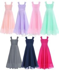 Pageant Flower GIRL Dress KID Birthday Wedding CHIFFON GOWN Formal Dresses 4-14