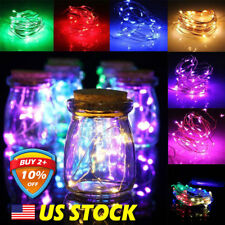 10pcs 10/20/30/40LED String Copper Wire Fairy Lights Battery Xmas Party Decor