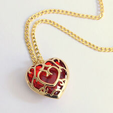 Women's Chain Heart Shape Red/Blue Stone Fashion Jewelry Pendant Necklace New