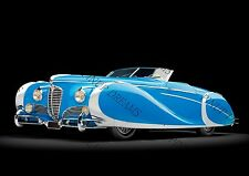 Poster Wall Art of Classic Vintage Delahaye 175 S Saoutchik Roadster 1949