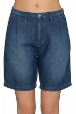 Wrangler Wrancher Chino Trousers Ladies Shorts Denim Blue W26W-95-72J Leisure