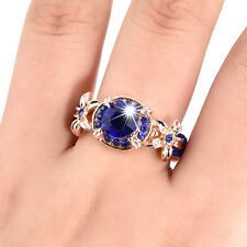 Blue Sapphire /Red Ruby 10kt White Plated Topaz Gemstone AAA Nice Ring Size 5-11