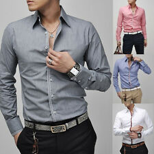 Fashion Mens Luxury Casual Stylish Slim Fit Long Sleeve Casual Dress Shirts News