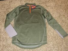 Men's UNDER ARMOUR 1/4 ZIP SURVIVOR INFRARED COLDGEAR PULLOVER 1248339 309 Green