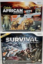 NEW Cabela's African Adventures & Survival Shadows of Katmai Wii/Wii-U Game Set