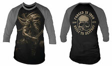 BLACK LABEL SOCIETY Forged In Iron Baseball Shirt Sizes S to XXL NEW OFFICIAL