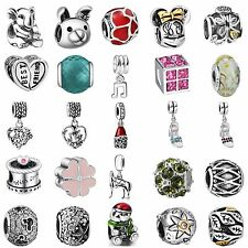 Hot European Bead 925 Silver Charms Pendants For Bracelet Bangle Chain Necklace