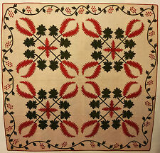 FOUR-BLOCK APPLIQUE QUILT PATTERN VINTAGE