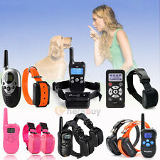 Dog Training Shock Vibra Collar w/LCD Remote Control For S/M/L 1-2 Pet Dog